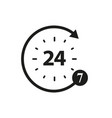 non stop of 24 and 7 icons vector image vector image