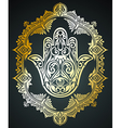 Ornate amulet Hamsa Hand of Fatima vector image vector image