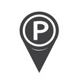 parking icon map pointer vector image vector image