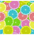 pattern with colored citrus fruits vector image