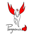 pegasus symbol vector image vector image