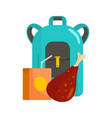 pupil lunch icon flat style vector image vector image
