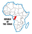 republic of the congo vector image
