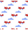 retro plane seamless pattern vector image