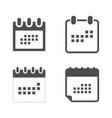 set calendar icon in flat style calendar symbol vector image vector image
