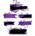 set grunge banners with patterns vector image
