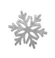 silver snowflake for winter holiday decor vector image