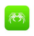 snow crab icon digital green vector image vector image