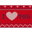St Valentines Ugly sweater A vector image vector image