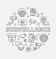 surveillance video security vector image vector image