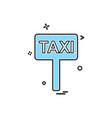 taxi board icon design vector image vector image