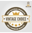 Vintage logo badge emblem or logotype elements vector image vector image