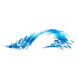 Wave design stylized composition vector image vector image