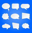 white blank retro speech bubbles set on vector image