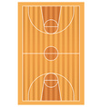 Wooden basketball court with lines vector image