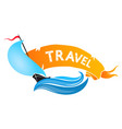 yacht on wave for travel vector image vector image