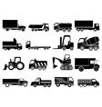 Heavy vehicles icons set vector image