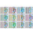 Set Colorful Pocket Calendars For 2017 vector image