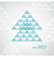 stylized geometrical Christmas tree from arrows vector image