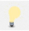 Light bulb cartoon symbol vector image
