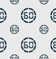60 second stopwatch icon sign Seamless pattern vector image vector image
