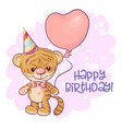 a cute cartoon tiger cub vector image