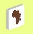 africa computer symbol vector image vector image