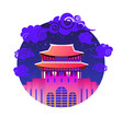 asian temple icon south korea landmark traditional vector image vector image