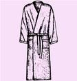 Bath robe vector image
