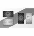 black and gray business card set template vector image vector image