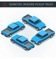 blue pickup car vector image vector image