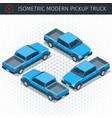 blue pickup car vector image vector image