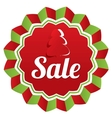 Christmas sale special offer label Paper tree vector image vector image