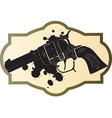 Classic Wild West hand guns vector image