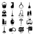 cleaning tools icons set simple style vector image vector image