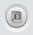 crypto news icon vector image vector image