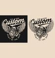 custom motorcycle vintage logotype vector image vector image