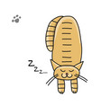 cute sleeping cat sketch for your design vector image vector image