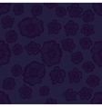 Dark violet seamless flower pattern vector image vector image