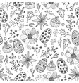 easter seamless doodle pattern hand drawn vector image vector image