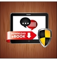 electronic book design vector image vector image
