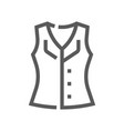 fashion and clothes line icon vector image vector image