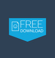 flat free download icon vector image
