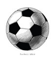 football hand draw vinatge style black and white vector image