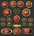 golden badges and labels collection 5 vector image vector image