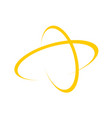 golden global cross worldwide symbol design vector image vector image
