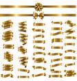 golden ribbon set white background vector image vector image