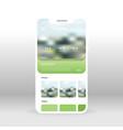green social network profile page ui ux gui vector image vector image