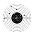 Gun target with bullet holes vector image vector image