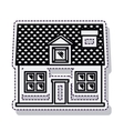 home house isolated icon vector image vector image